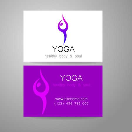 Souvent Yoga Logo - Conception De Signe Et De Cartes De Visite. Modèle  PZ28