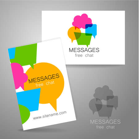 foreign language: Messages - logo. The idea for the design of the mark. Logo for chat, social networking site, a Foreign Language School, email correspondence, and others.