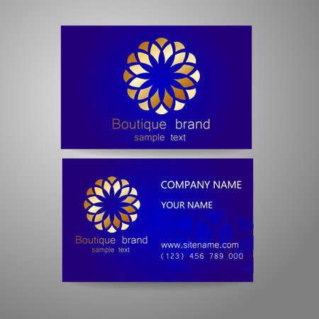 richness: Boutique brand - template logo. The luxury, richness, exclusive, business, presentation of corporate identity. Illustration