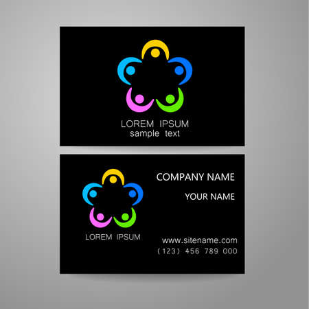 association: Connection - template logo. Sign the connection, communication, social networking, association and union. The idea for the design of corporate identity.