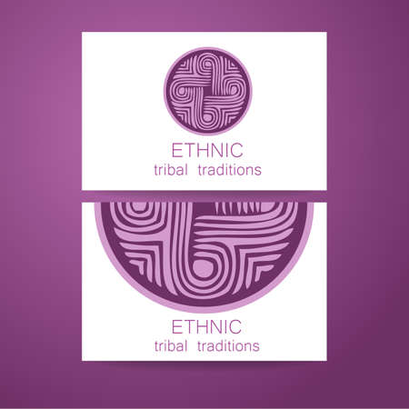karma graphics: Ethnic logo - a traditional symbol. Template design of corporate identity in the traditional style of ethnic shops, yoga studios, a center of cultural development, organic food store, natural cosmetics manufacturer and others.
