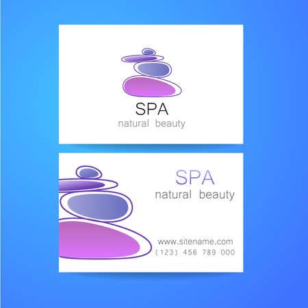 beauty center: Spa - a beauty salon. Stone pyramid as a symbol - of balance and harmony. Template Logo Design for beauty salon, spa center, beauty treatments, massages etc..