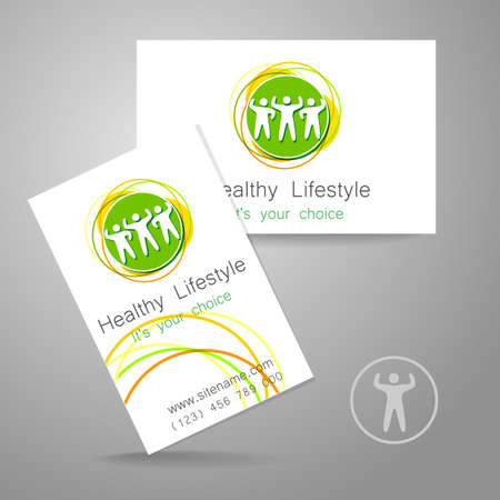 brand activity: Sport club logo. Corporate design template business card sports club, fitness center, sports shop, and others.