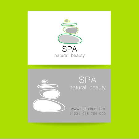 massage: Spa - un salon de beauté. Pierre pyramide comme un symbole - de l'équilibre et de l'harmonie. Logo Design Modèle pour salon de beauté, spa, soins de beauté, massages etc ..