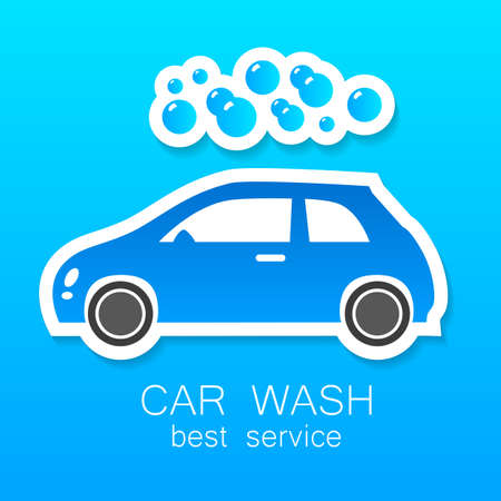 carwash: Car wash - vector sign. Template design for icons, stickers carwash.