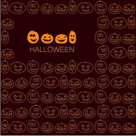 halloween pattern: Halloween pattern - vector design template. Illustration
