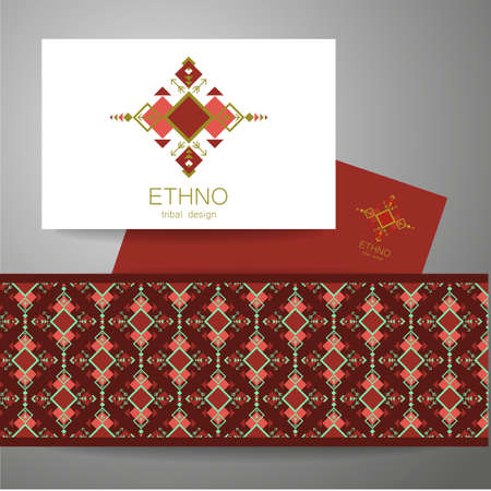 ethno: Ethno - corporate identity. Template design of . Illustration
