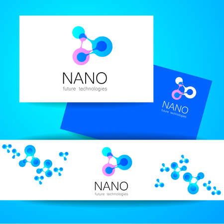 Nano - nanotechnology. Template design of Vector presentation. Illustration