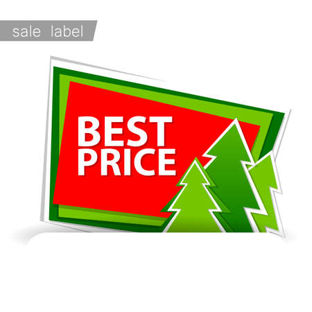the template: Christmas sale. Vector template. Illustration