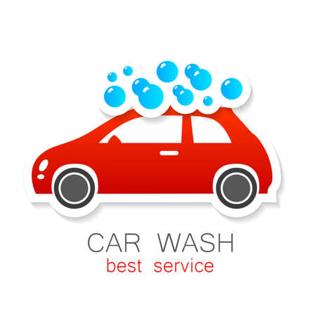 washes: Car wash - vector sign. Template design for icons, stickers carwash.