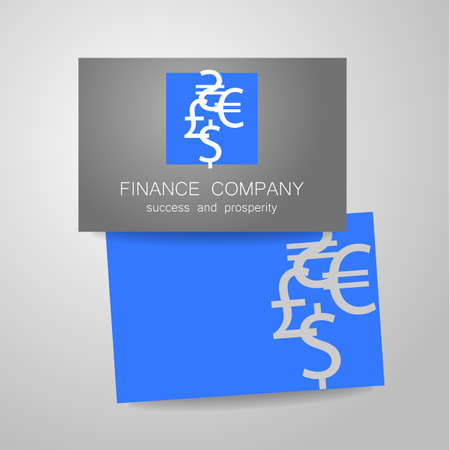 financial symbol: Financial Company - template Sign of the money - a symbol of the dollar, euro, pound, and others. The presentation of the design  for the financial companies, banks, currency exchange, community fund and others.