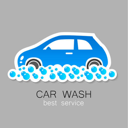 autolavado: Lavado de coches - signo vector. Dise�o de la plantilla para los iconos, pegatinas carwash.