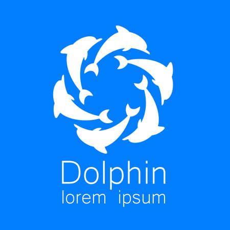 dolphin: Dauphin. Modèle de conception pour l'entreprise. Corporate Identity.