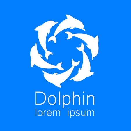 dolphin: Dolphin. Template design for the company. Corporate Identity. Illustration