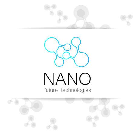 nanotechnology: Nano - nanotechnology. Template design presentation.