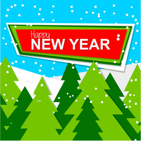 winter snow: New Year design. Template vector banner. Illustration