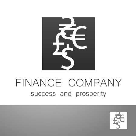 financial symbol: Financial Company - template Sign of the money - a symbol of the dollar, euro, pound, and others. Illustration