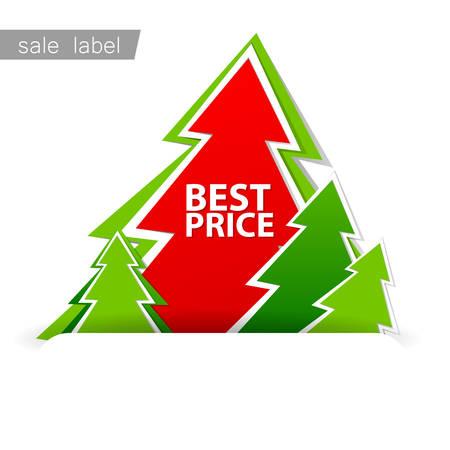 christmas sale: Christmas sale. Vector template. Illustration