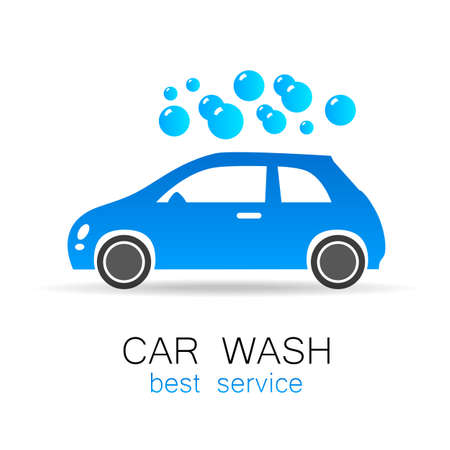 carwash: Lavado de coches - signo vector. Dise�o de la plantilla para los iconos, pegatinas carwash.