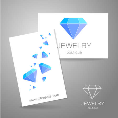 gems: Jewelry Boutique - template logo. Diamond - a symbol of luxury.
