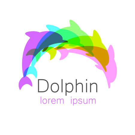company logo: Dolphin. Template design of logo for the company. Corporate Identity.