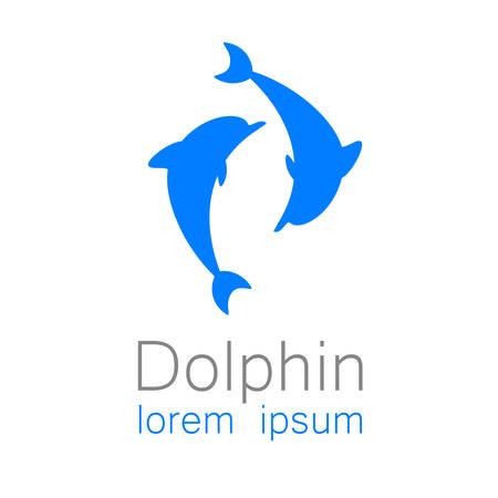 dauphin: Dauphin. mod�le de conception de logo pour la soci�t�.
