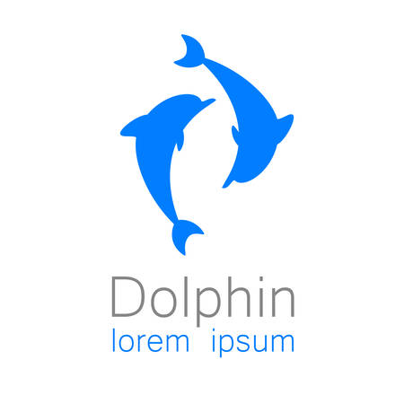 delfin: Delfin. Szablon projektu logo dla firmy. Ilustracja