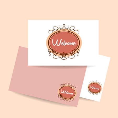 gala: Welcome - design template invitation. Gala decorations.