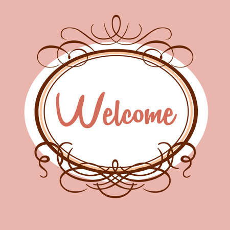 invited: Welcome - design template invitation. Gala decorations.