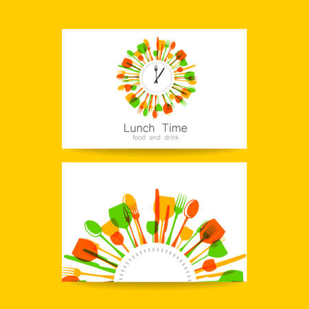food shop:  Restaurant, coffee shop, fast food, food delivery. Template design for corporate identity.