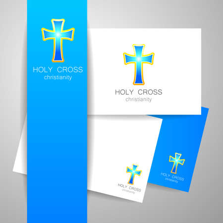christianity: Holy Cross - the sign pattern design. Illustration