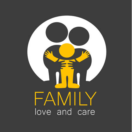 care: Family care . Love family Illustration