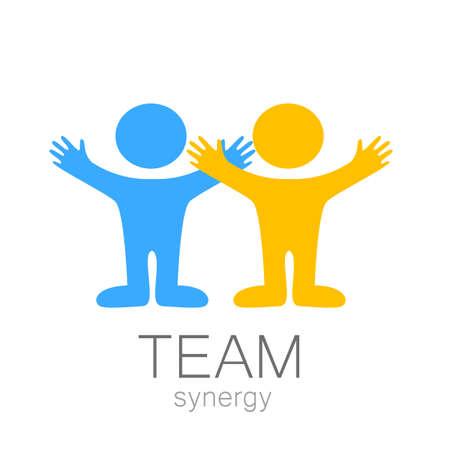 조직: 팀 기호 - 벡터 템플릿입니다.