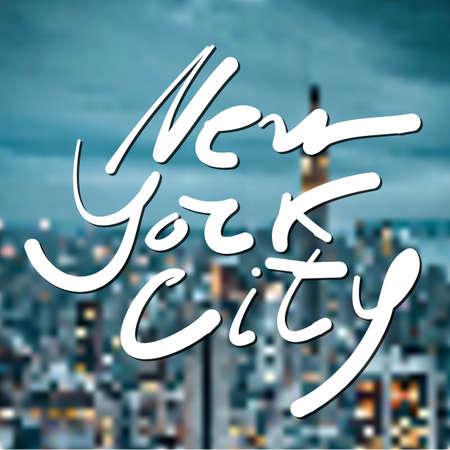 new york: New York city - lettering design.  typographic composition. Illustration