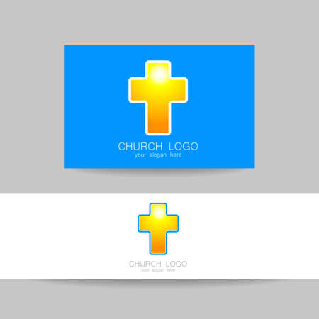 the christian religion: Church logo -  design template. Template logo for churches and Christian or organizations. Church name, church icon,  christian logo,  religion logo.