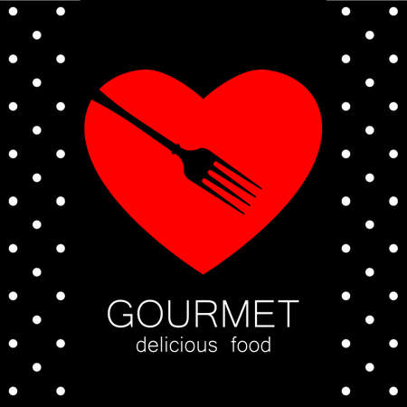 gourmet: Gourmet  . Delicious food. Lovely food  template. Love Food  . Template  for restaurant, cafe, fast food, store  . Vector  tempalate.