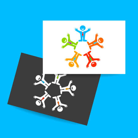 media network: Social media network people icon. Teamwork icon. Vector illustration.
