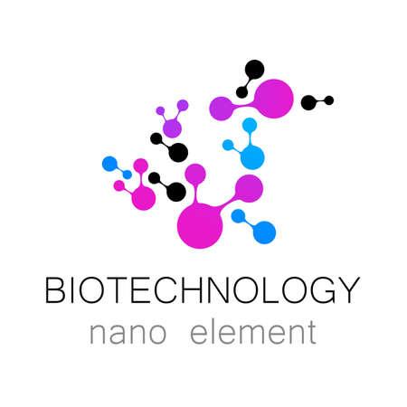 nanotechnology: Biotechnology. Nanotechnology. Vector  template. Illustration