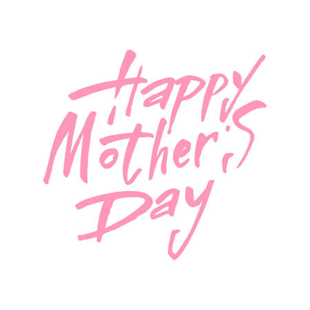 mother's hand: Happy Mothers Day Greeting Card. Happy Motherss Day Typographical Background. Mothers day hand lettering handmade calligraphy.