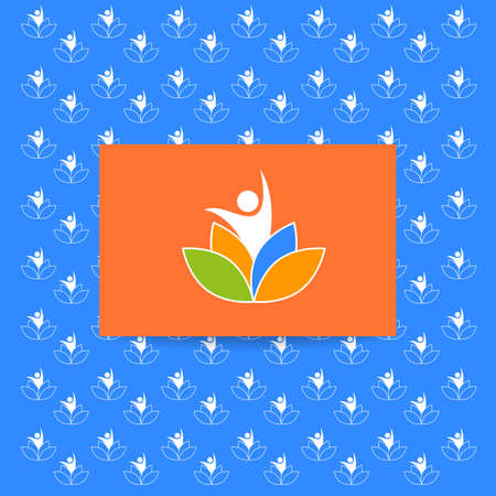 nirvana: Yoga pattern. Vector design template. Health Care, Beauty, Spa, Relax, Meditation, Nirvana concept icon.  Vector illustration.