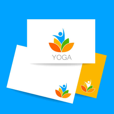 nirvana: identity card. Health Care, Beauty, Spa, Relax, Meditation, Nirvana concept icon.  Vector illustration for yoga studio, event, school, club, web. Illustration