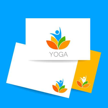 beauty spa: identity card. Health Care, Beauty, Spa, Relax, Meditation, Nirvana concept icon.  Vector illustration for yoga studio, event, school, club, web. Illustration