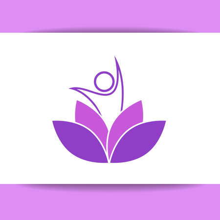 nirvana: Vector design template. Health Care, Beauty, Spa, Relax, Meditation, Nirvana concept icon.  Vector illustration for yoga studio, event, school, club, web.