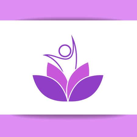 health spa: Vector design template. Health Care, Beauty, Spa, Relax, Meditation, Nirvana concept icon.  Vector illustration for yoga studio, event, school, club, web.