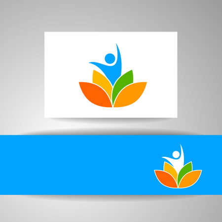 nirvana: Vector design template. Health Care, Beauty, Spa, Relax, Meditation, Nirvana concept icon.