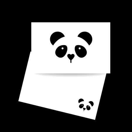 identity card: Panda. Identity card design. Panda design idea Illustration