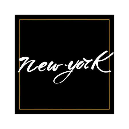 handwritten: New York city  lettering design template. New York inscription. Print for t-short. Handwritten quote. Vector illustration. Illustration