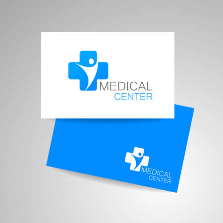 wellness center: Medical center  . Medical identity. Template design. Vector illustration.