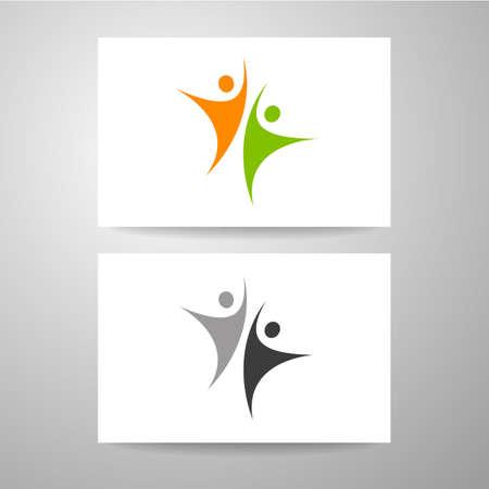 business team: Business card design. Team