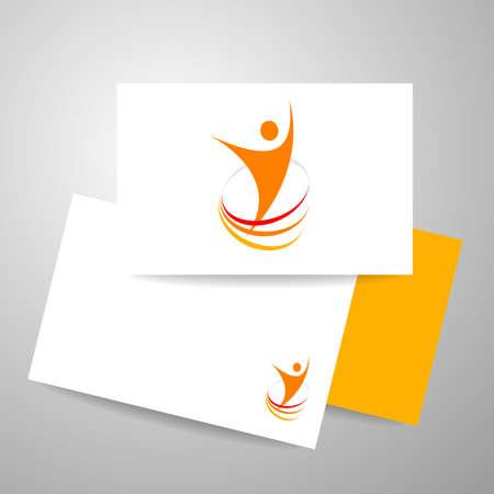 personalausweis: Energie Symbol. Winner-Vorlage. Visitenkarte Design. Identität Business-Konzept. Menschliche abstrakt. Vektor-Illustration. Illustration